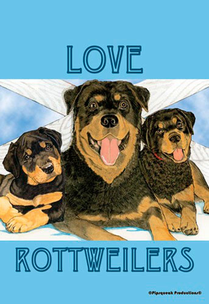 Rottweiler Garden Flag 12.5 x 18 in