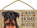 Rottweiler Wood Dog Sign Wall Plaque 5 x 10 + Bonus Coaster