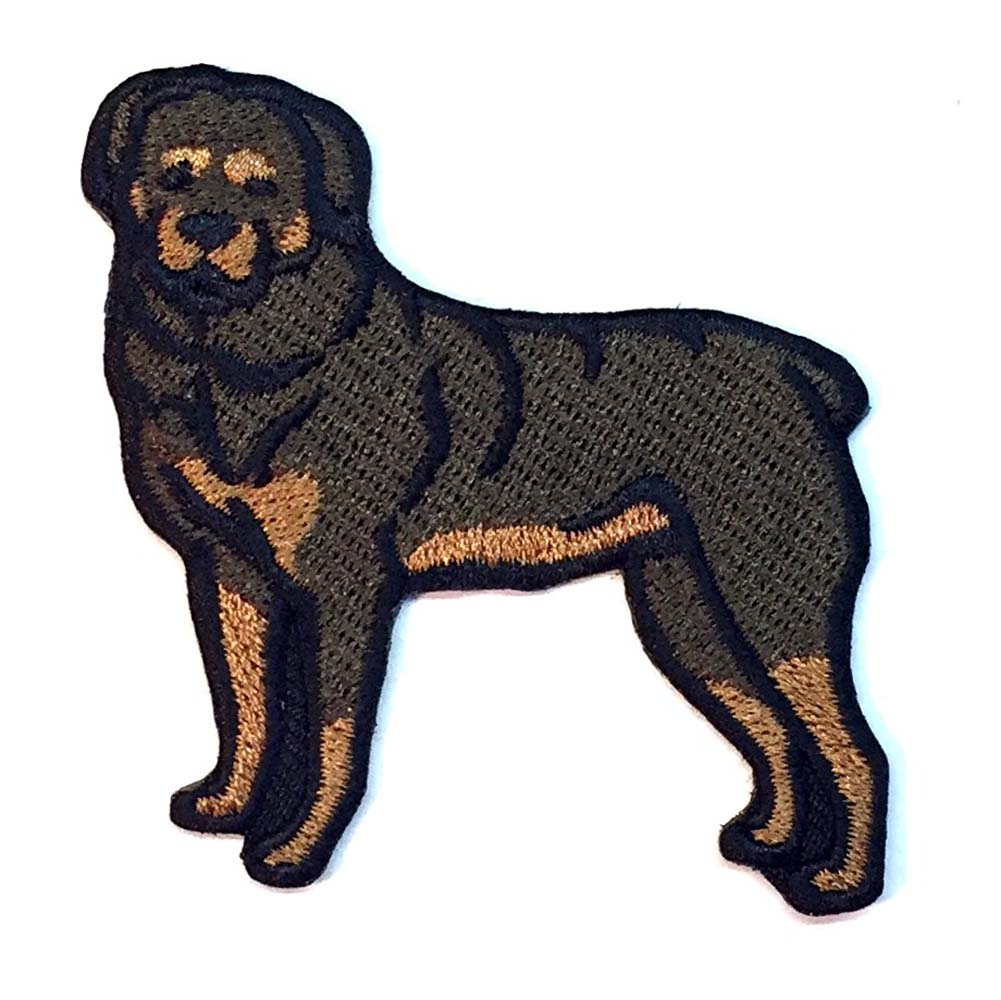 Rottweiler Iron On Embroidered Patch -