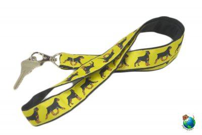 Rottweiler Lanyard Key Holder Badge Holder