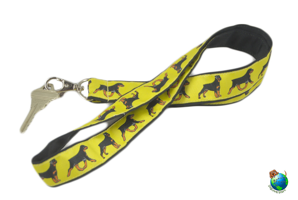 Rottweiler Lanyard Key Holder Badge Holder