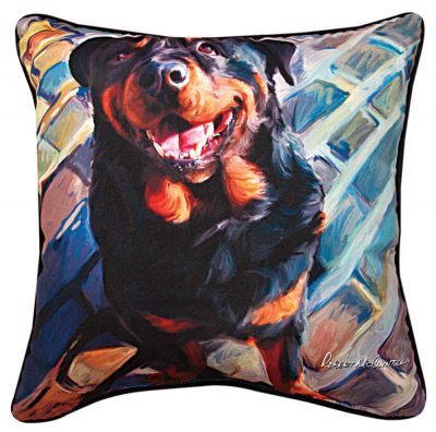 Rottweiler Artistic Throw Pillow 18X18″ 1