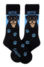 Rottweiler Socks - Blue & Black in Color