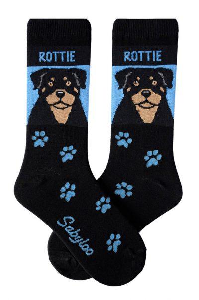 Rottweiler Socks - Blue & Black in Color