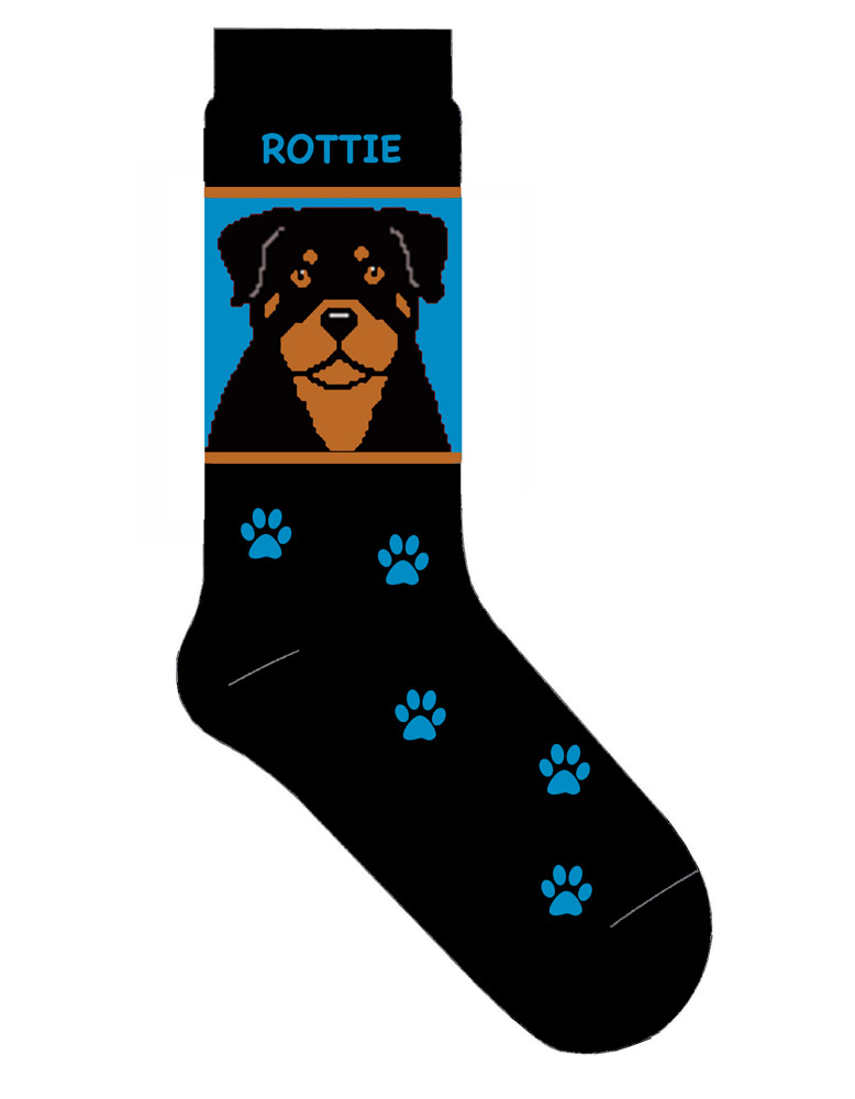 Rottweiler Socks Blue New Style