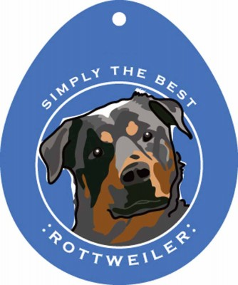 "Rottweiler Sticker 4x4"""
