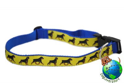 Rottweiler Dog Breed Adjustable Nylon Collar Extra Large 13-26″ Yellow 1