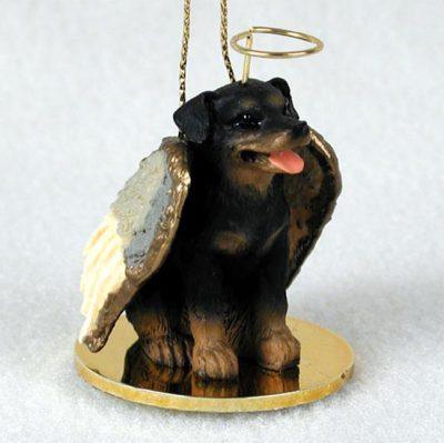 Rottweiler Dog Guardian Angel Figurine