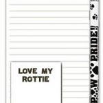 Rottweiler Dog Notepads To Do List Pad Pencil Gift Set 1