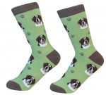 Saint Bernard Face Pattern Socks