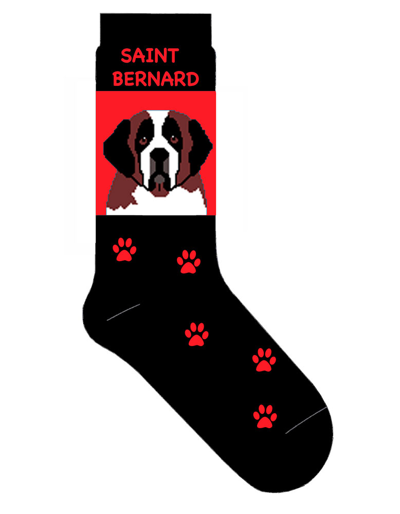 Saint Bernard Socks - Red