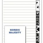 Samoyed Dog Notepads To Do List Pad Pencil Gift Set 1