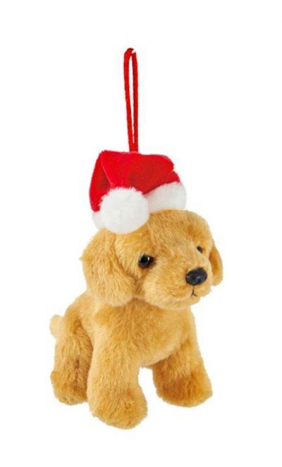 Golden Retriever Santa Hat Ornament