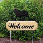 Schipperke Outdoor Welcome Garden Sign Black in Color