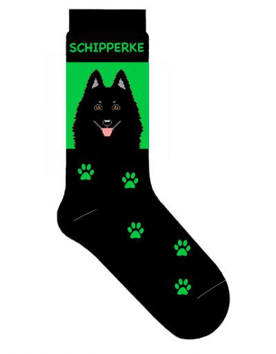schipperke-socks-green