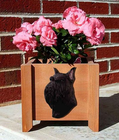 Schnauzer Planter Flower Pot Standard Black 1