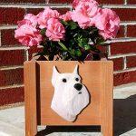 Schnauzer Planter Flower Pot White 1