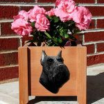 Schnauzer Planter Flower Pot Black 1