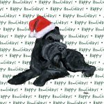 Schnazer Dog Coasters Christmas Themed Black