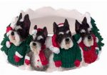 Schnauzer Candle Holder Topper Cropped