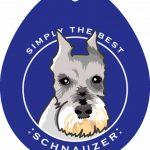 Schnauzer Sticker 4×4″ Cropped 1