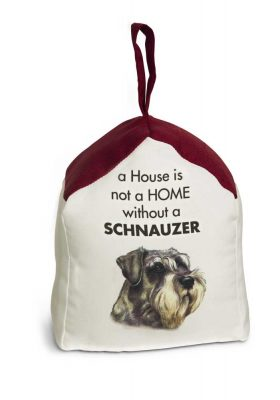Schnauzer Door Stopper 5 X 6 In. 2 lbs