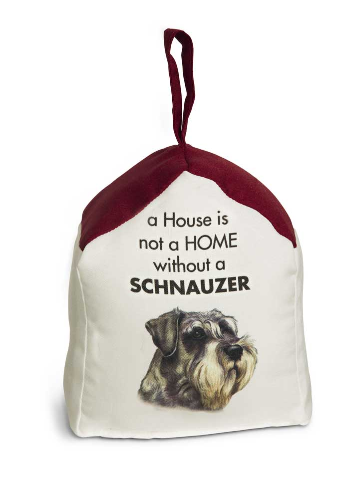 Schnauzer Door Stopper 5 X 6 In. 2 lbs. - A House is Not a Home