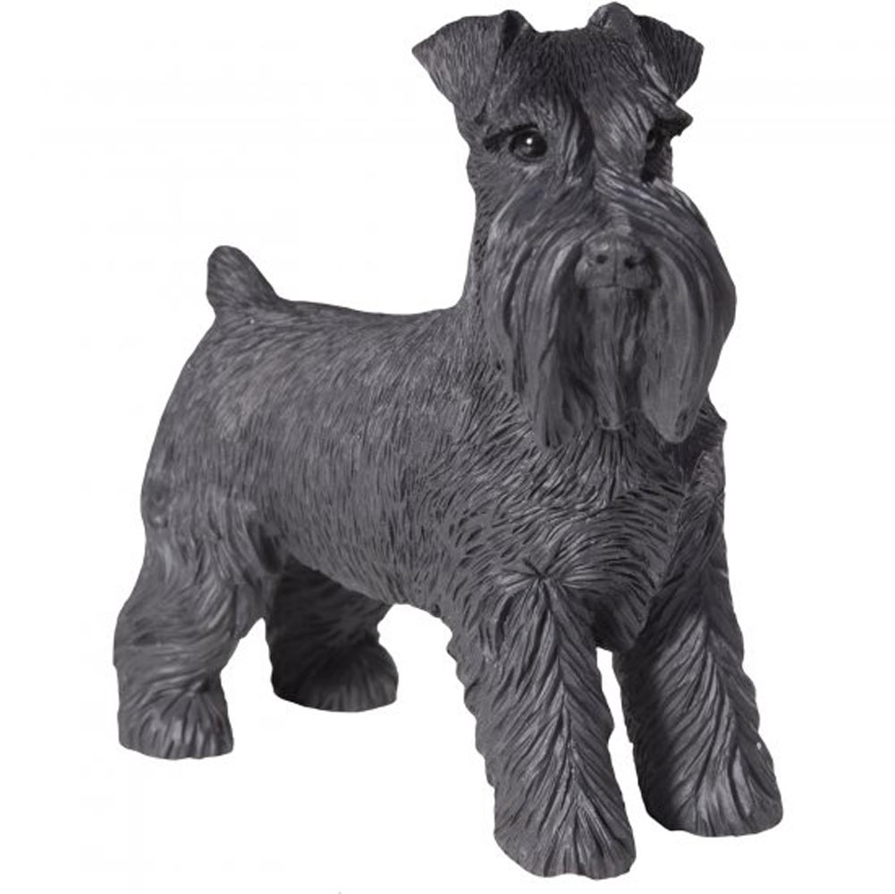 Schnauzer Figurine Hand Painted Uncropped - Sandicast