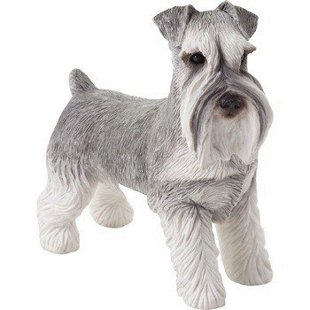 Schnauzer Figurine Gray Uncropped Sandicast