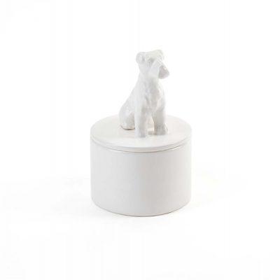 Schnauzer Jewelry Box Porcelain 1