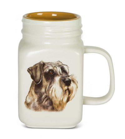 Schnauzer 21 Oz. Ceramic Mug Mason Jar - All You Need Is Love
