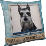 Schnauzer Pillow 16×16 Polyester Cropped 1