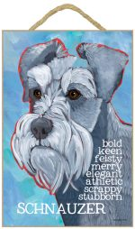 Schnauzer Characteristics Indoor Sign Gray Uncropped