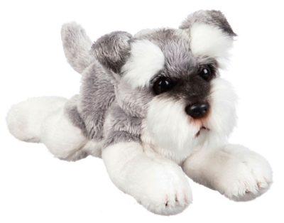 Schnauzer Bean Bag Stuffed Animal Gray