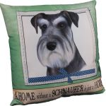 Schnauzer Pillow 16×16 Polyester Uncropped 1