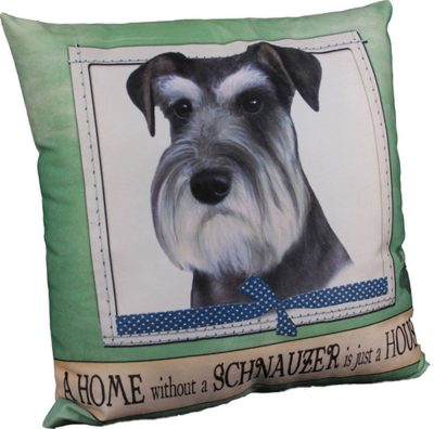 Schnauzer Pillow 16x16 Polyester Uncropped
