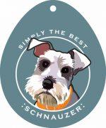 """Schnauzer Sticker 4x4"""" Uncropped"""