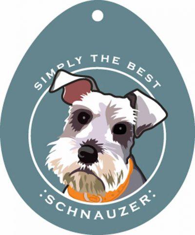 Schnauzer Sticker 4×4″ Uncropped 1