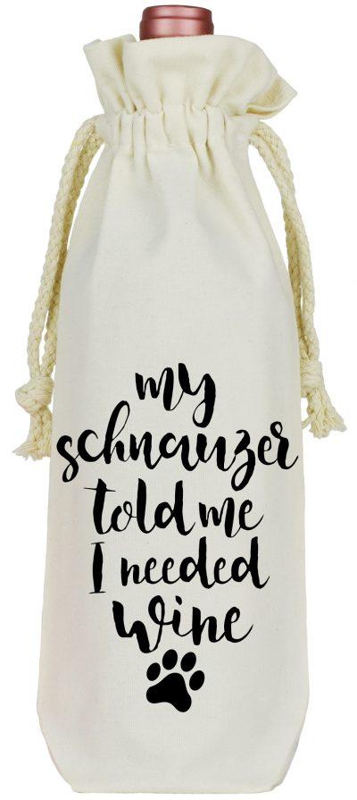 Schnauzer Wine Bag