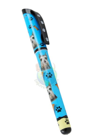 Cropped Schnauzer Writing Pen Blue in Color
