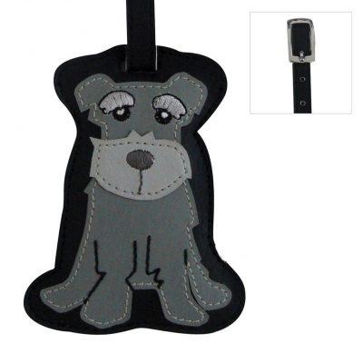 Schnauzer Dog Luggage Tag Briefcase Gym Backpack Travel ID 1