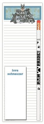 Schnauzer Dog Notepads To Do List Pad Pencil Gift Set