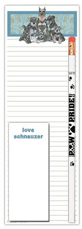 Schnauzer Dog Notepads To Do List Pad Pencil Gift Set 1
