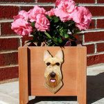 Scottish Terrier Planter Flower Pot Wheaten 1