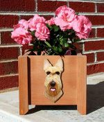 Scottish Terrier Planter Flower Pot Wheaten