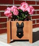 Scottish Terrier Planter Flower Pot Black