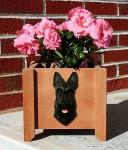Scottish Terrier Planter Flower Pot Brindle