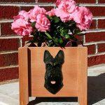 Scottish Terrier Planter Flower Pot Brindle 1
