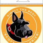 Scottish Terrier Car Magnet 4×4″ 1