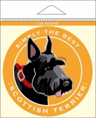 Scottish Terrier Car Magnet 4×4″ 1